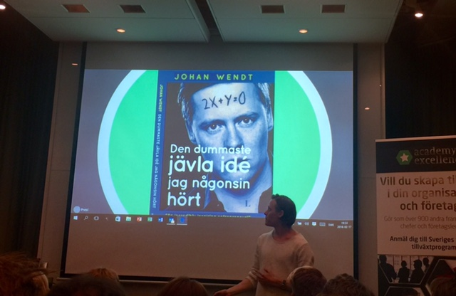 Johan Wendt föreläste för ca 100 entreprenörer i veckan.